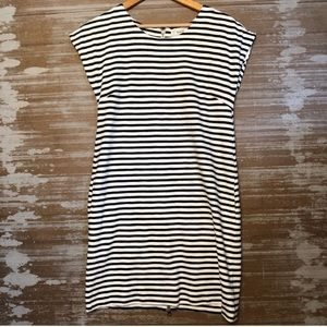 Madewell Zipline Mini Dress Pencil Stripe Size XS